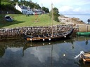 The Viking Longship in the old port, Corrie