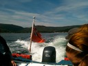 On the boat to Holy Isle
