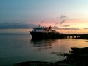 Early morning ferry at Brodick pier